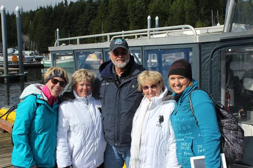 our AFLAC alaska trip- soo much fun with friends from Georgia we were heading out to bear watch