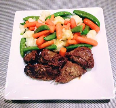 Beef barolo and mixed vegetables