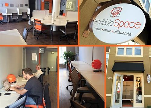 ScribbleSpace is your community's shared office & meeting space in Summerport Village that also hosts events, classes and workshops evenings and weekends.