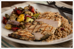 Herb-Rubbed Chicken Dinner