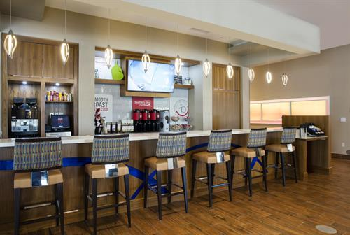 Seattle's Best coffee bar serving freshly brewed coffee, cappuccino, and espresso as well as freshly prepared bakery products at SpringHill Suites