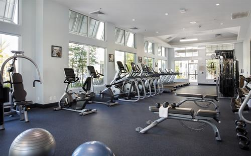 State-of-the-art, 1,700 square foot fitness center
