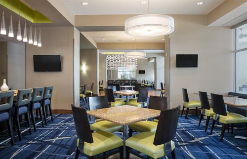 Breakfast area at SpringHill Suites