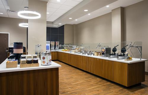 Complimentary hot breakfast served daily at SpringHill Suites