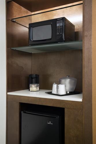 Microwave, mini-fridge and coffeemaker at SpringHill Suites