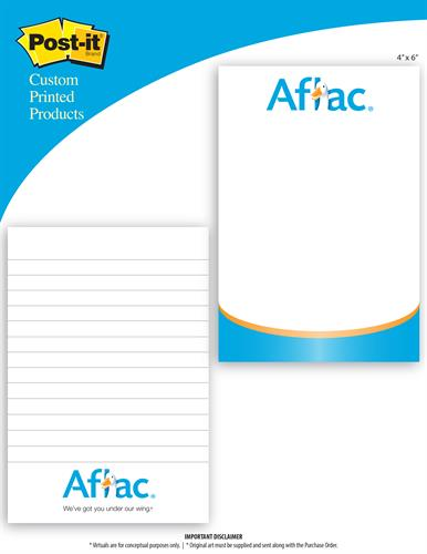 Aflac Custom Note Pads