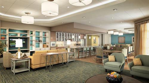Sonata West's Assisted Living Dining and Family Room