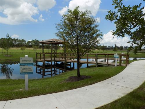 Our fishing pier and walking path.