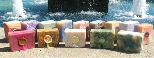 Beautiful Soaps made with Organic Coconut Oil and Essential Oils.