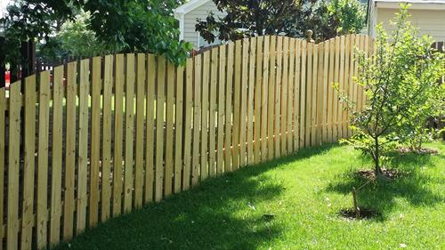 6ft Arched Space Picket Wood Fence