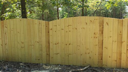 Arched Solid Board Wood Fence