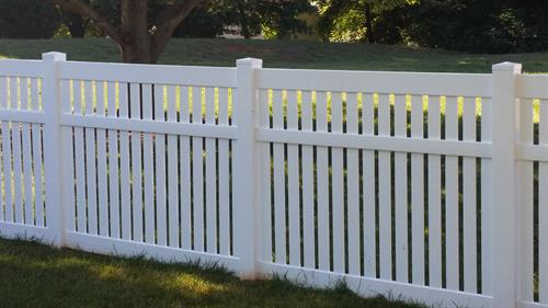 Semi Privacy White Vinyl Fence