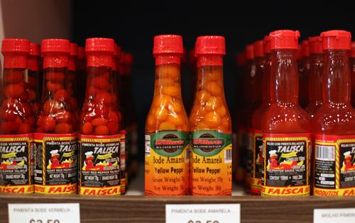 You can find a great selection of hot sauces in our market section.