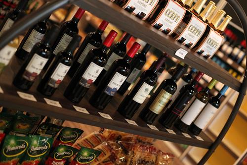 Fantastic selection of imported and domestic wines.