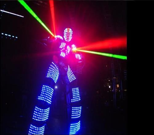 LED Robot Stilt Walkers Or almost any theme you can think of we have!
