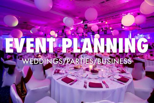 Event Planning, corporate, socials, fundraisers, grand openings, holiday parties