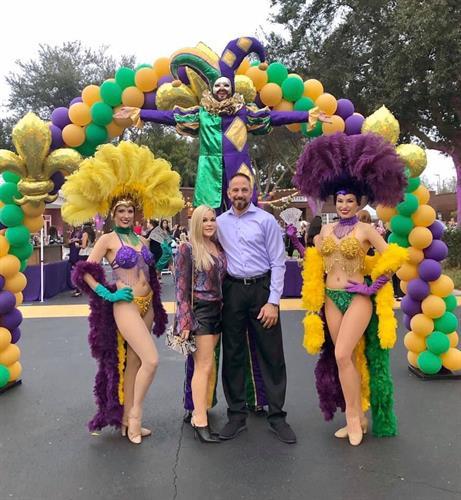 Mardi Gras Party, Theme Entertainment, Theme Decor
