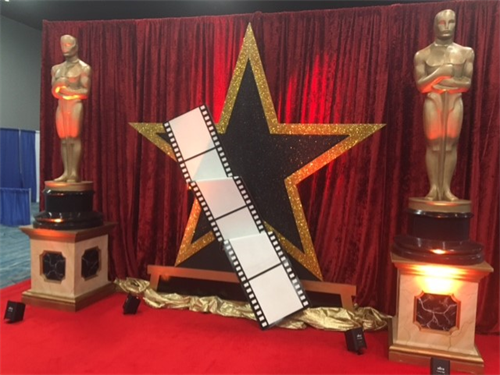 Trade Show Booth Decor - Hollywood