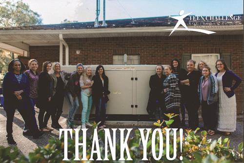 Teen Challenge Jacksonville Generator Donation