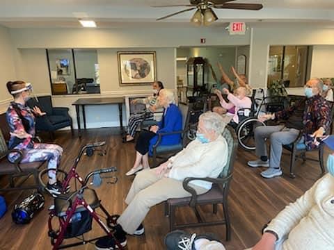 Wendy Teaching an Elder Fitness Classes