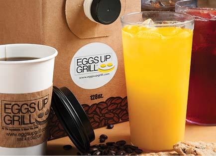 Coffee and juice options