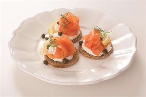 TooJays has a little black dress for catering events too! (We call it Norwegian Smoked Nova Salmon)