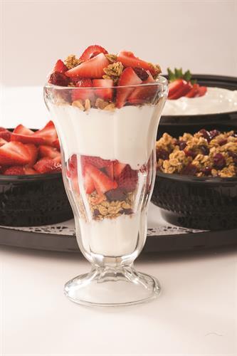 Our fresh and beautiful yogurt bar ALWAYS makes an impression!