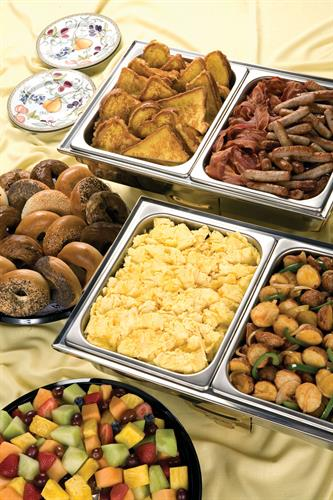 Hot breakfast to start your business day right!
