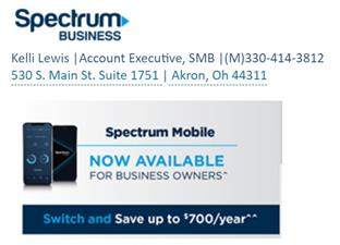 Spectrum Business Solutions- Kelli Lewis Account Executive