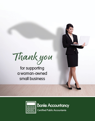 Banks Accountancy Thank You card