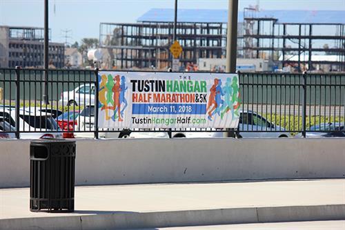 2018 Tustin Hangar Half Marathon banner. One of many designs.