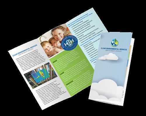 Tri-fold brochure design Clear Environment