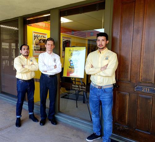 Nerd Team outside office