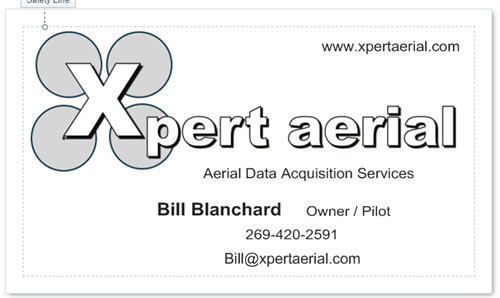Xpert Aerial Business Card (Front)