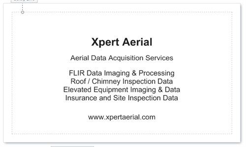 Xpert Aerial Business card (Back)