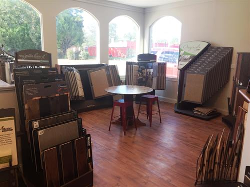 Carpet and Hardwood area