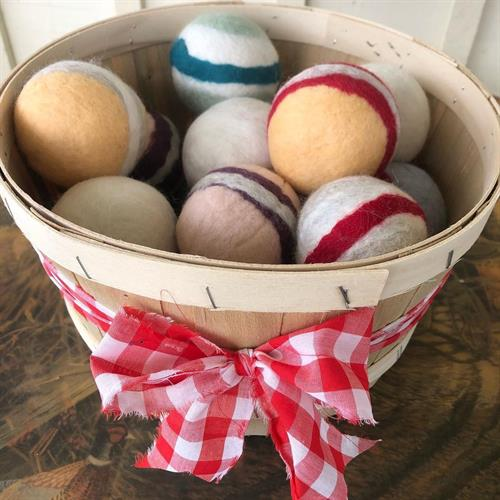 we make 100% wool dryer balls