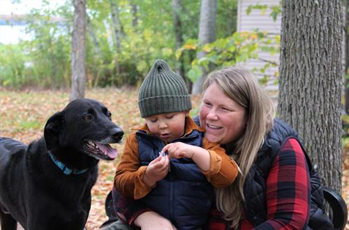 Financial Advisor Samantha Bodger, Son Gus and Dog Rudy