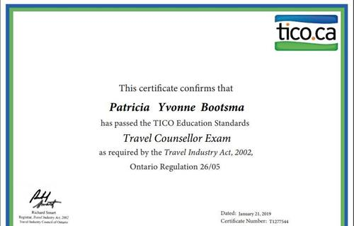 TICO Certified Travel Agent