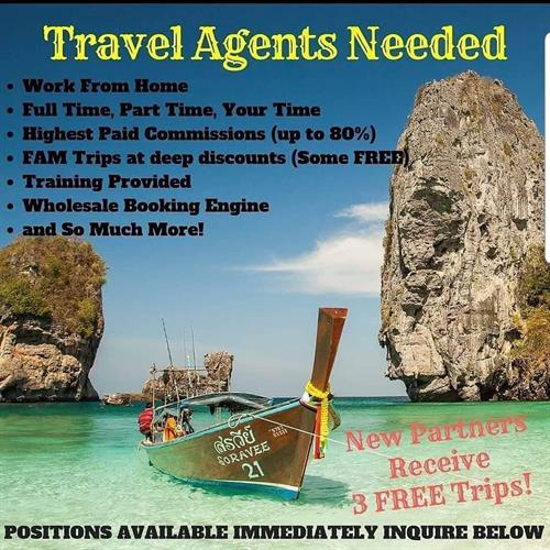 Work from home as an Independent Travel Agent.