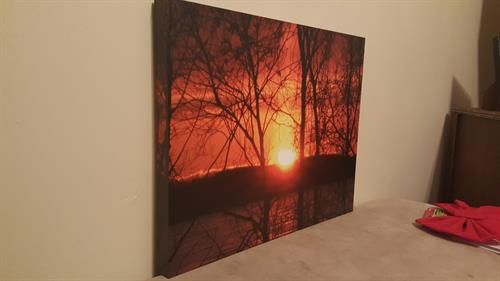 Stretched Canvas Photography Sample.  Sizes 8x8 to 30x40.