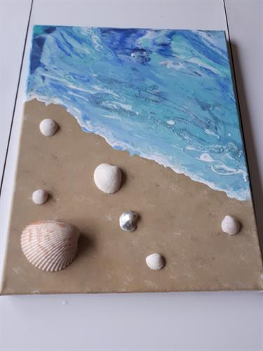 """11x14 Acrylic on Stretched Canvas. 1"""" Wooden Frame. Ready to Hang"""