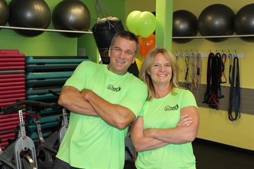 Andy Laird (personal trainer) with Robin Smith (owner)