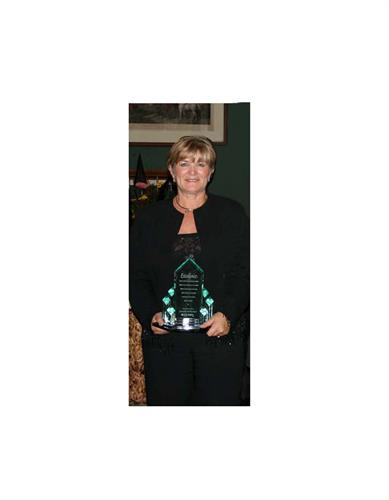 Accepting the Georgina Business Excellence Award - 2007