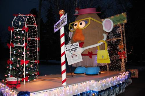 Winner of the 2011 Sutton Santa Claus Parade float - Business Category
