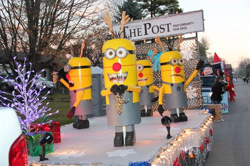 Winner of the 2013 Sutton Santa Claus Parade float - Business Category