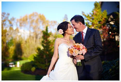 Hawaiian American Couple Bridal Portrait