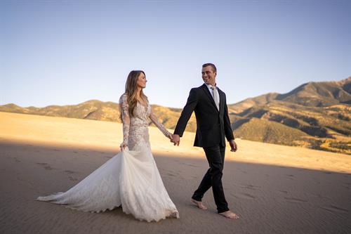 Photo Shoot Desert Wedding Destination Event