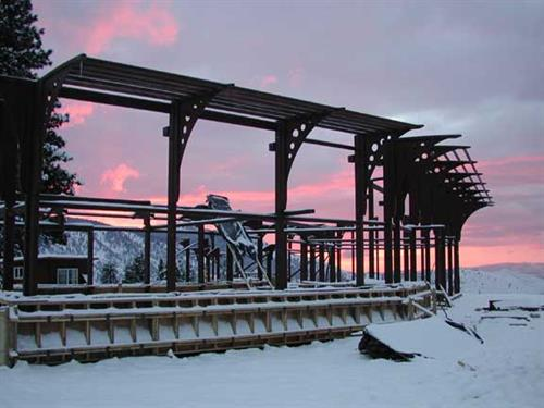 Steel frames at sunrise - Cashmere, WA - (Custom residence designed in conjuntion with another architect)