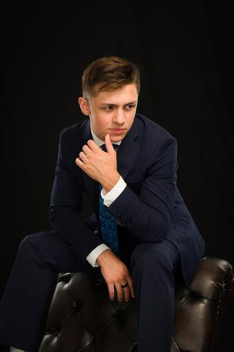 High School Senior Pictures of a boy in Edmonds Photo Studio